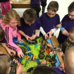 second graders learning about dinosaurs